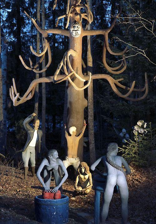 Details of the sculptures in Veijo Rönkkönen's garden