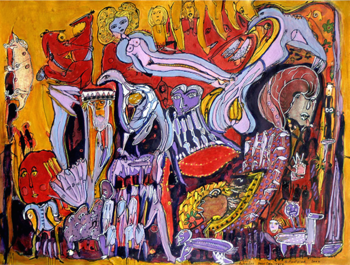Aubades pour Odalisque, 2000, photo from http://www.outsider-art-fair.com