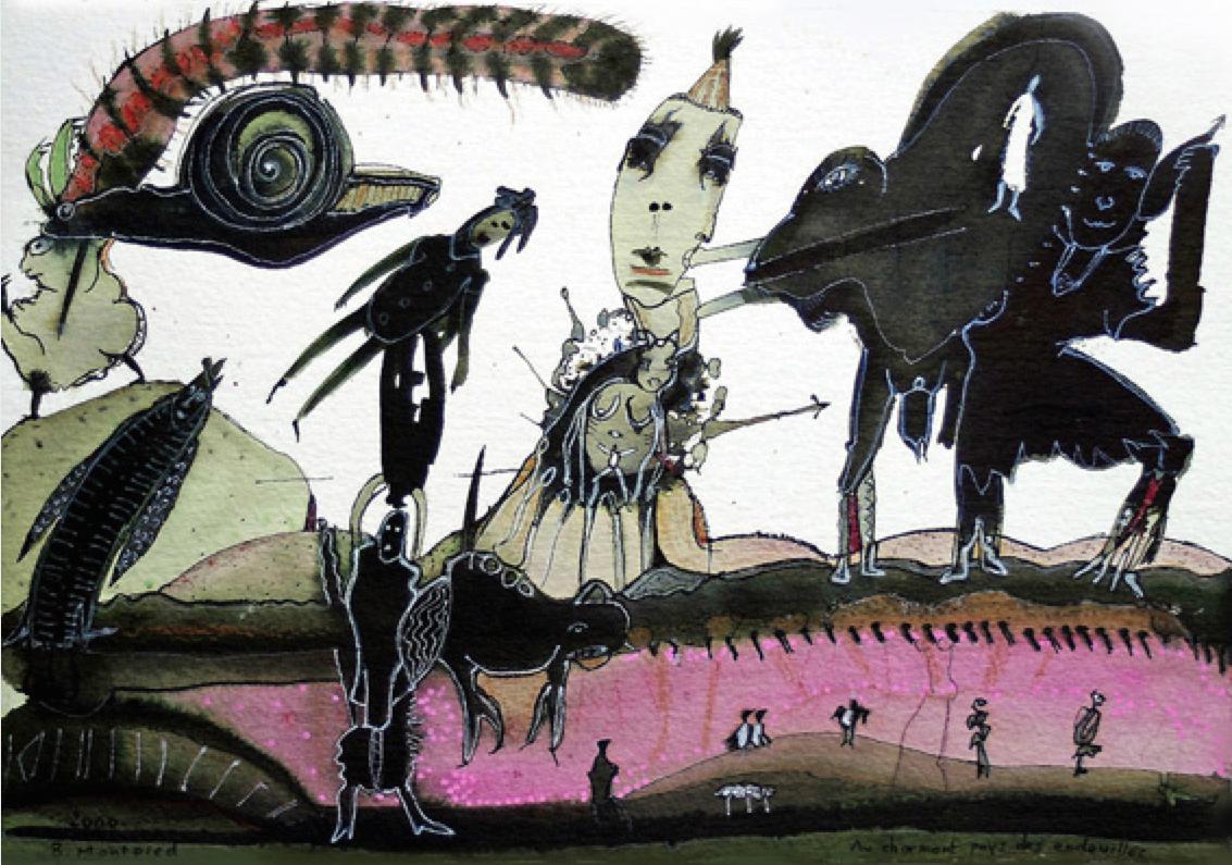 Au charmant pays des endeuillés, 2000, photo from http://www.outsider-art-fair.com