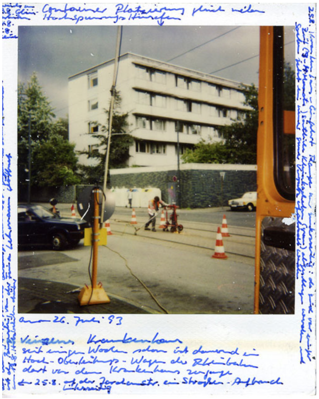 Horst Ademeit, untitled, 26.07.1993, inscribed polaroid, 11 x 9 cm, © Delmes & Zander, Cologne