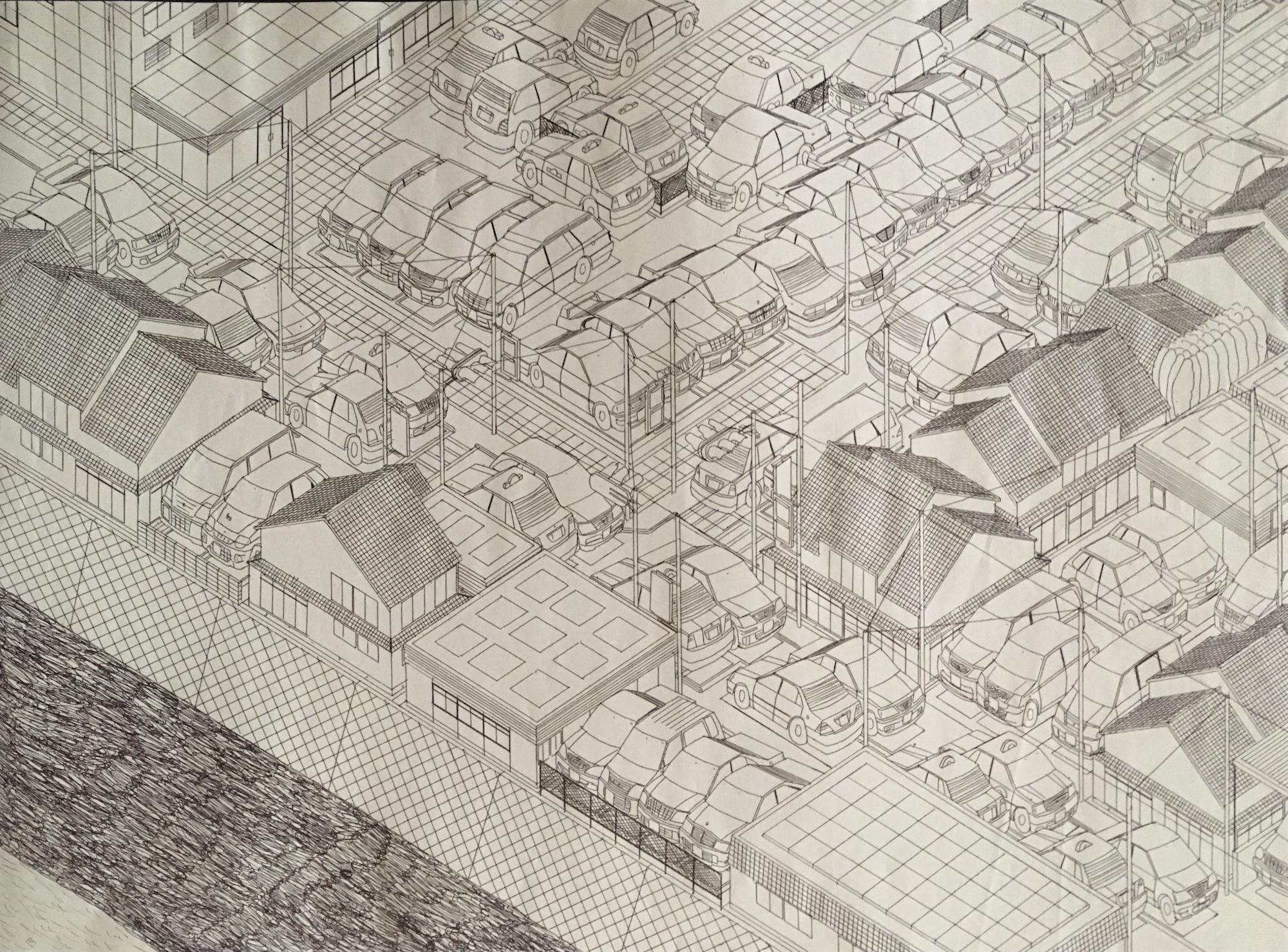 Work by Kiyoshi Toya, Photo courtesy of Kushino Terrace, Fukuyama, Japan.