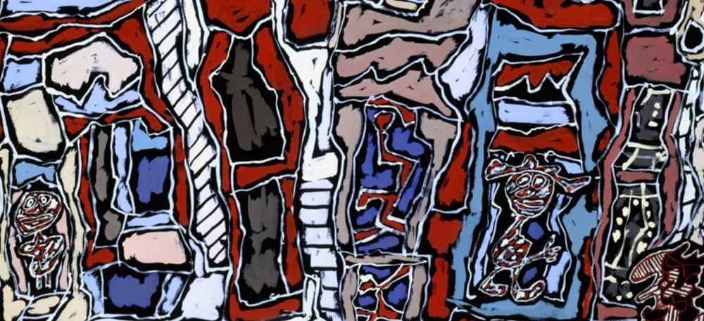 Jean Dubuffet, Paris plaisir V , 1962 - 1962, Gouache, © Mucem.
