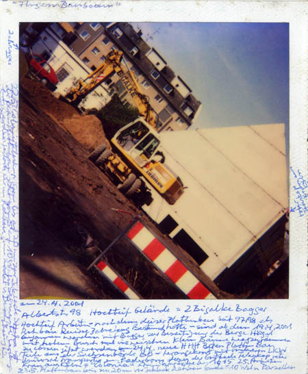 Horst Ademeit, Untitled, 1990 / 2004, mixed technique on Polaroid, © Galerie Susanne Zander, Cologne
