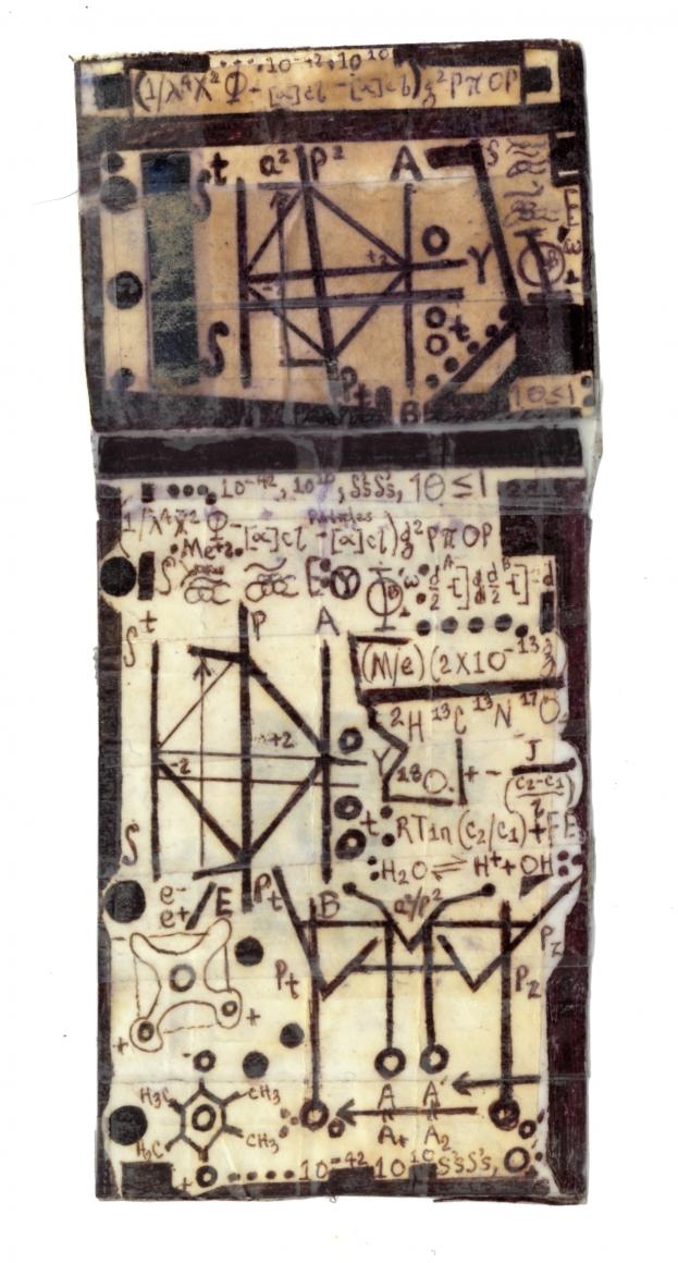 Melvin Way, Institu, n.d., ballpoint pen on paper & scotch tape