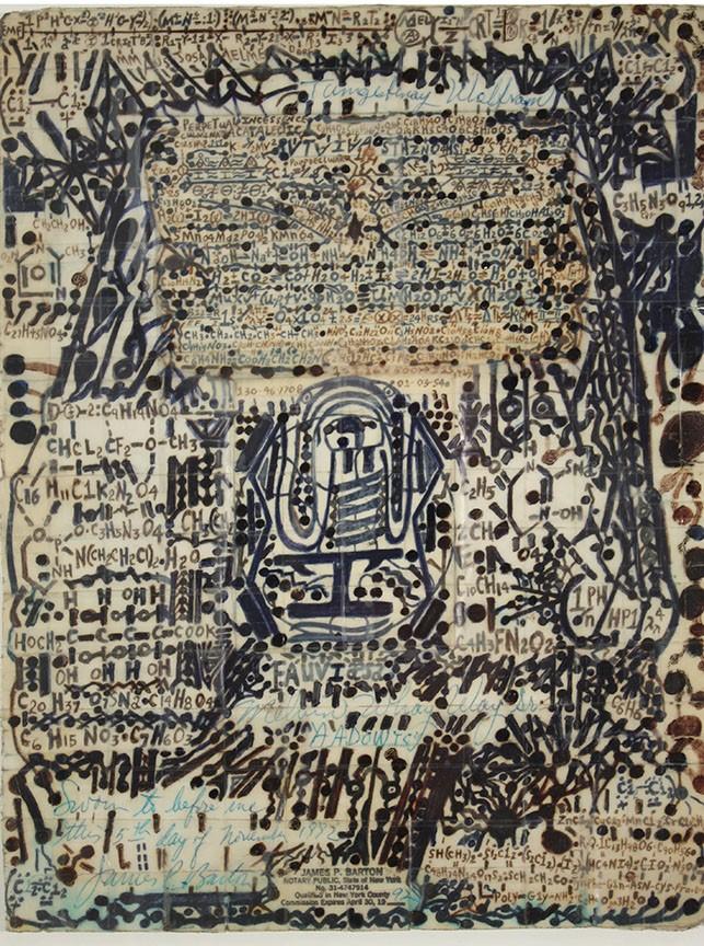 Melvin Way, Tungsten, 1991, ink on paper & scotch tape